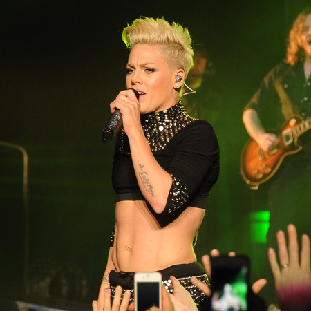 Pink playing a show in New York City