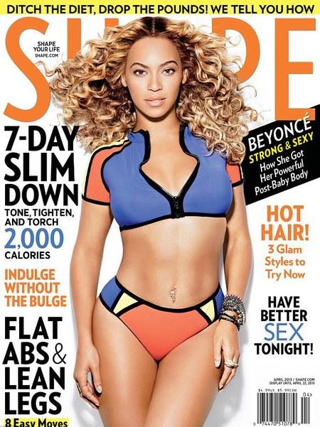Beyonce poses in bikini for Shape magazine