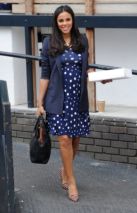 Rochelle Humes pregnancy style