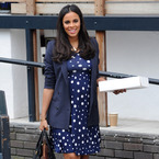 Pregnant Rochelle Humes is pretty in polka dots