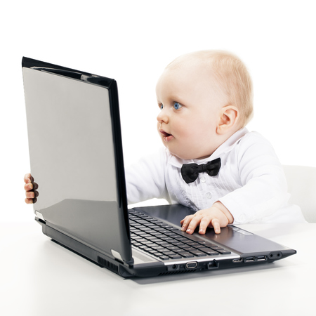baby on the computer