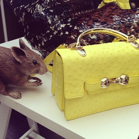 Mulberry Bayswater Shoulder in yellow