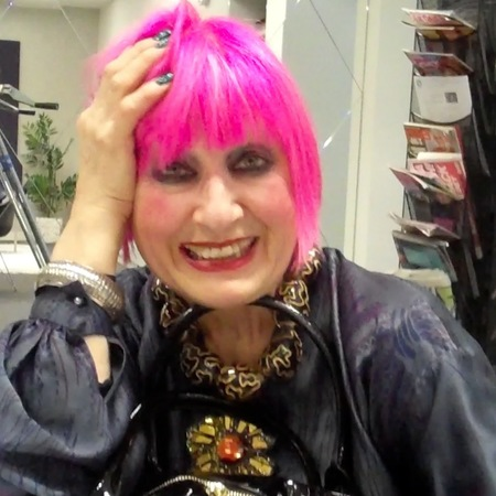 Zandra Rhodes at QVC handbag collection launch