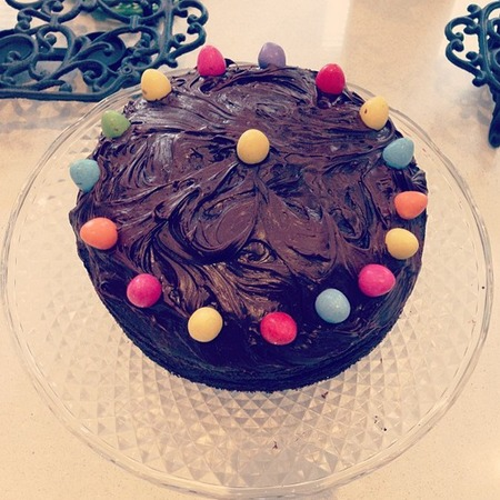 Kelly's chocolate mini egg cake