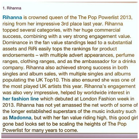 Rihanna most influential pop star