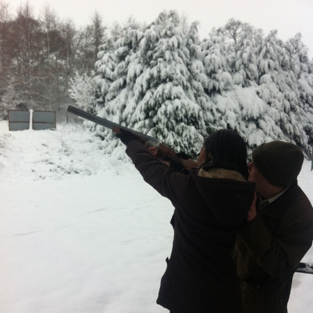 Clay Pigeon Shooting in Huntsham Court, Devon