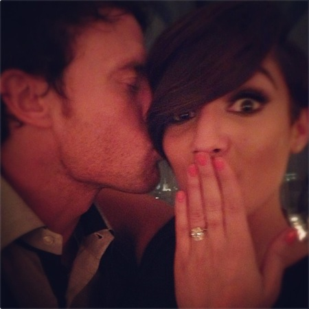 Frankie Sandford and Wayne Bridge get engaged