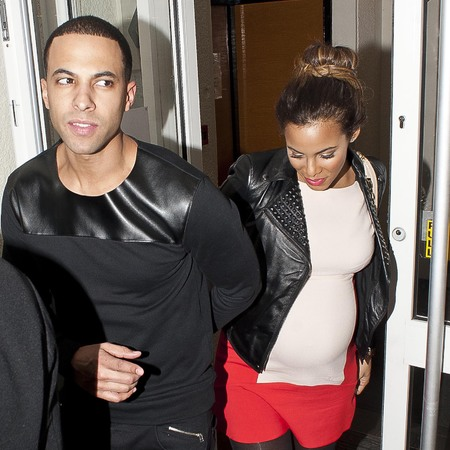 Rochelle Humes and Marvin Humes theatre date night