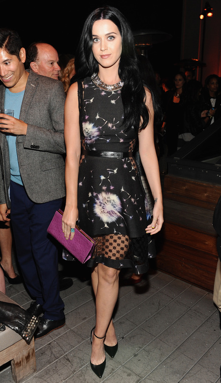 Katy Perry parties at Coach charity cocktails