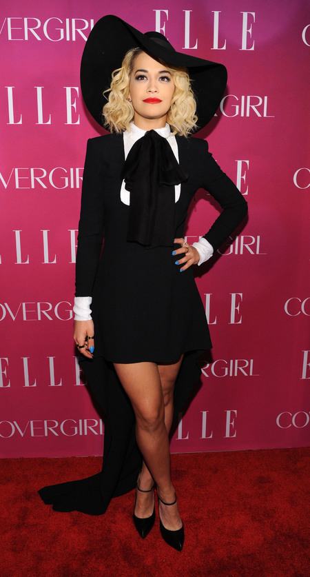 Rita Ora wears Saint Laurent at Elle Women in Music bash
