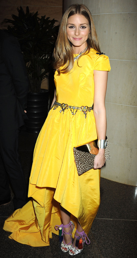 Olivia Palermo's bright yellow dress