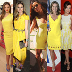 CELEB TREND: Rihanna leads yellow dresses