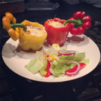 Tom Daley cooks chilli stuffed peppers