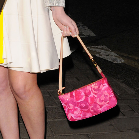 Helen Flanagan's floral Louis Vuitton shoulder bag