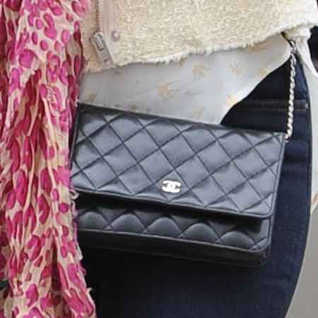 Kelly Brook's black Chanel Flap Bag