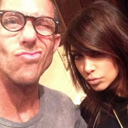 Kim Kardashian and hairdresser Chris McMillan