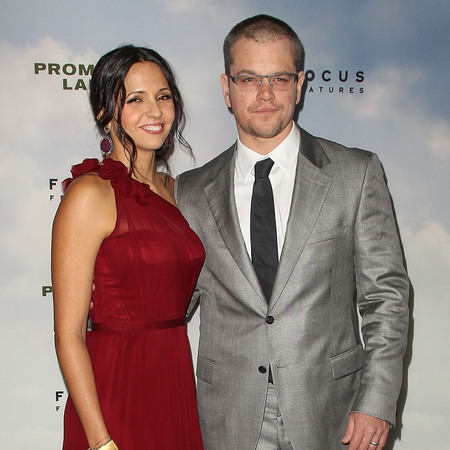 Matt Damon and wife Luciana Barrosso