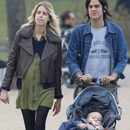 Peaches Geldof in the park