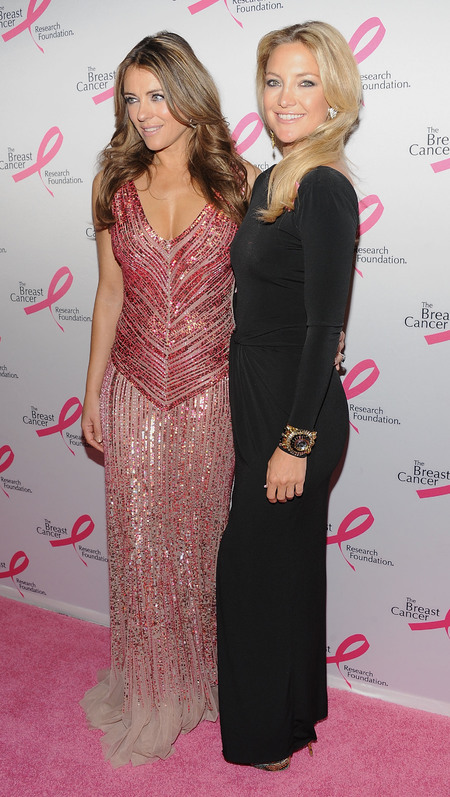 Kate Hudson and Elizabeth Hurley attends Breast Cancer Research Hot Pink Party