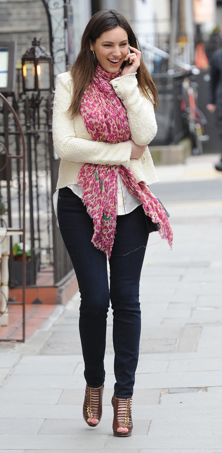 Kelly Brook spotted in London