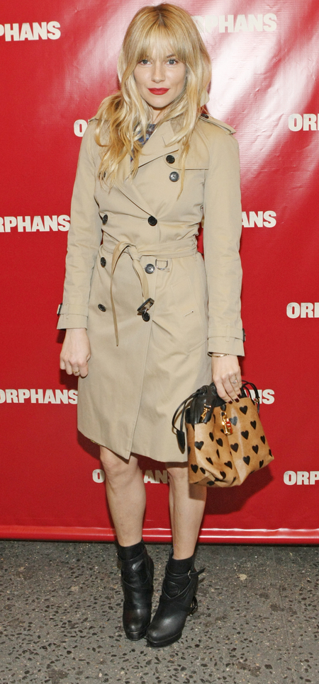 Sienna Miller at Orphans Broadway Opening Night