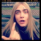 LOOK! Cara Delevingne gets
