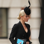 Katherine Jenkins attends funeral of Baroness Thatcher