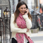 Kelly Brook styles up spring separates in London