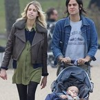 Peaches Geldof takes her bump for a relaxing walk