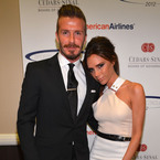 Victoria Beckham congratulates David Beckham