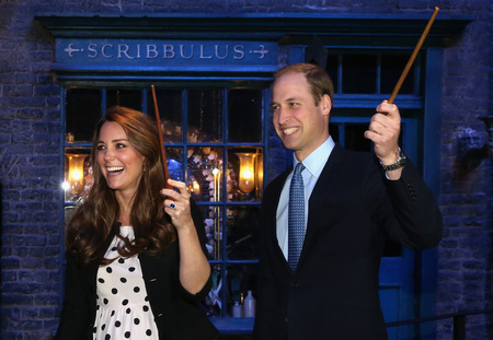 Prince William and Kate visit the Harry Potter studio