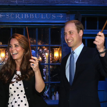 Kate Middleton and Prince William at Harry Potter Studio Tour