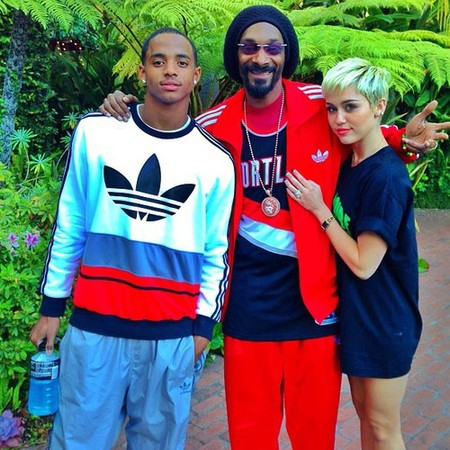 Miley Cyrus with Snoop Lion