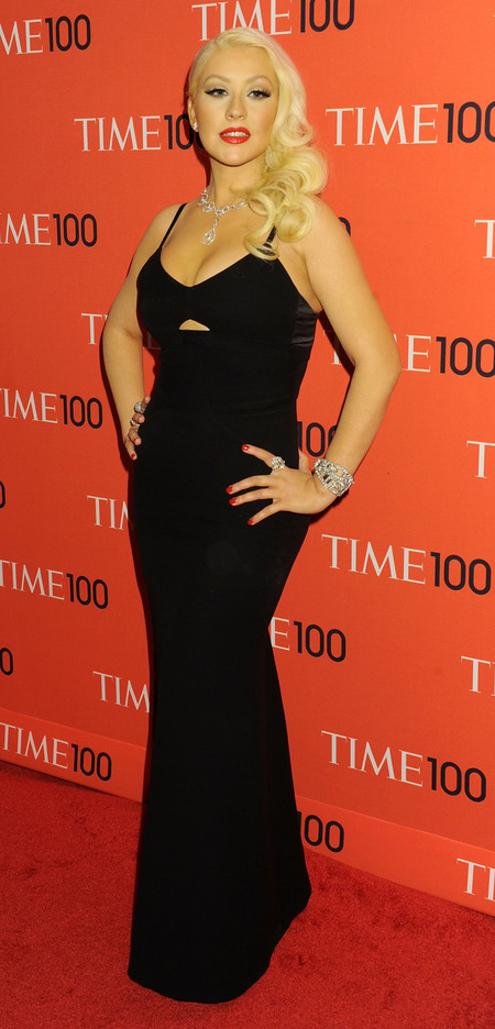 Christina Aguilera wears Victoria Beckham at Time 100 Gala