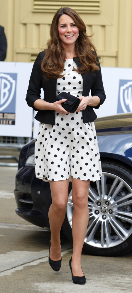 Kate Middleton wears Topshop dress at Harry Potter tour studio
