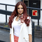 Amy Childs steps into spring outside ITV studios