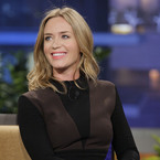 Emily Blunt hits Tonight Show in Victoria Beckham