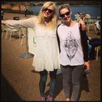 Fearne Cotton soaks up the sun in lace and leopard print