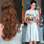 WEDDING HAIRSTYLE: Kate Middleton's half-up curls