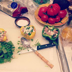 Tasty Tweets: Kelly Brook's tuna and feta cheese stuffed peppers