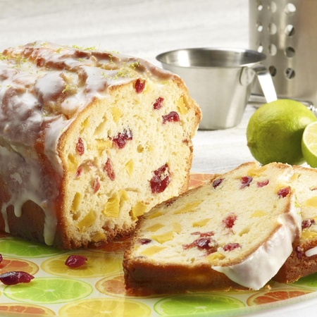 Lime, Mango and Cranberry Cake