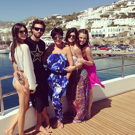 Kardashian family holiday to Greece