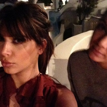 Kim Kardashian fringe in Greece