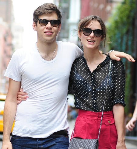 Keira Knightley and James Righton celebrity spot - street style - celebrity couples - fashion - handbag.com