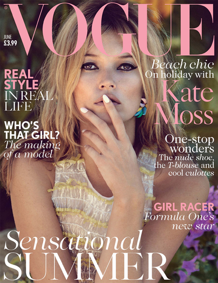 Kate Moss covers British Vogue June issue