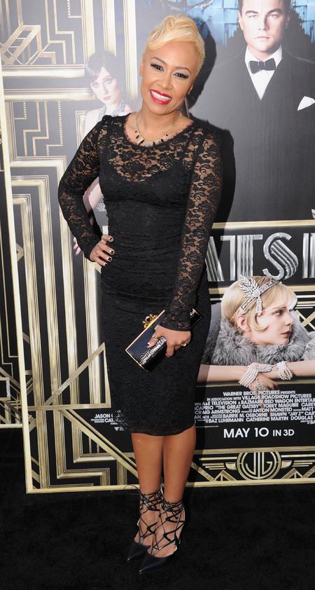 Emeli Sandé wears lace Dolce & Gabbana at The Great Gatsby world premiere