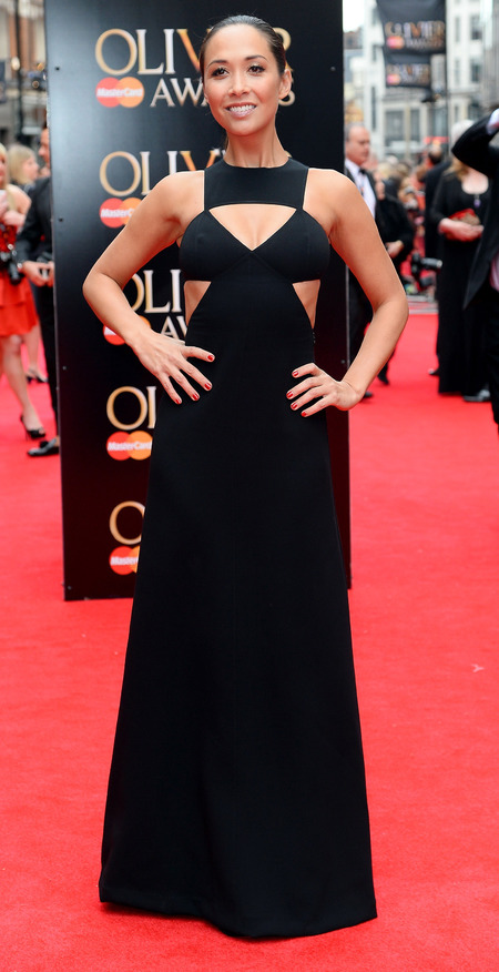 Myleene Klass at the 2013 Laurence Olivier Awards