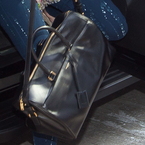 CELEB BAGS: Anne Hathaway's Saint Laurent Duffle