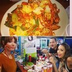 Jessica Alba eats honest food at Korean fish market