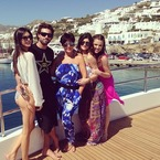 The Kardashian's luxury holiday in Mykonos, Greece